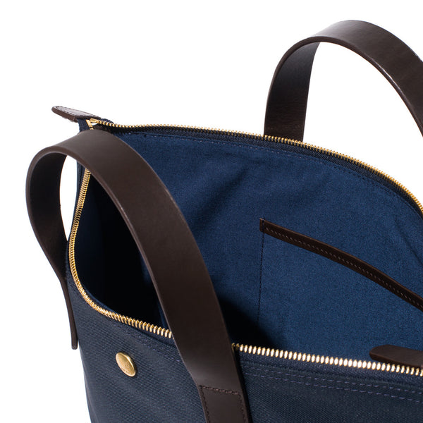 Mismo - Original Shopper - Navy Canvas & Dark Brown Leather - MAN of the WORLD Online Destination for Men's Lifestyle - 8