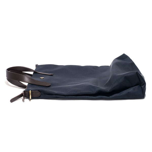 Mismo - Original Shopper - Navy Canvas & Dark Brown Leather - MAN of the WORLD Online Destination for Men's Lifestyle - 5