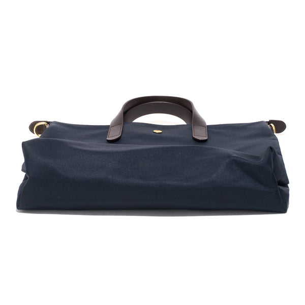 Mismo - Original Shopper - Navy Canvas & Dark Brown Leather - MAN of the WORLD Online Destination for Men's Lifestyle - 4