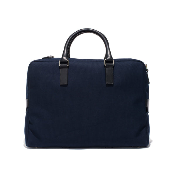 Mismo - Overnight holdall - Navy Canvas & Black Leather - MAN of the WORLD Online Destination for Men's Lifestyle - 2