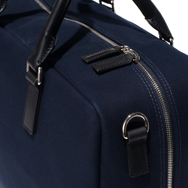 Mismo - Overnight holdall - Navy Canvas & Black Leather - MAN of the WORLD Online Destination for Men's Lifestyle - 10