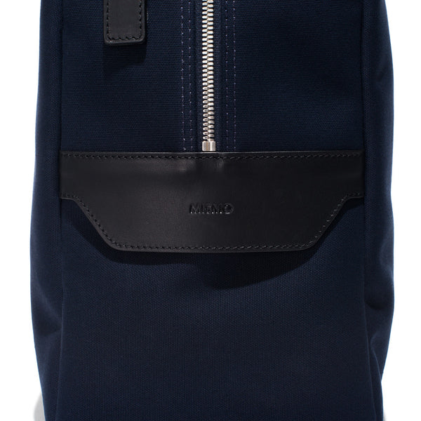 Mismo - Overnight holdall - Navy Canvas & Black Leather - MAN of the WORLD Online Destination for Men's Lifestyle - 11