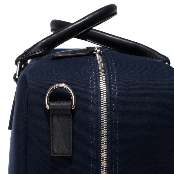 Mismo - Overnight holdall - Navy Canvas & Black Leather - MAN of the WORLD Online Destination for Men's Lifestyle - 8