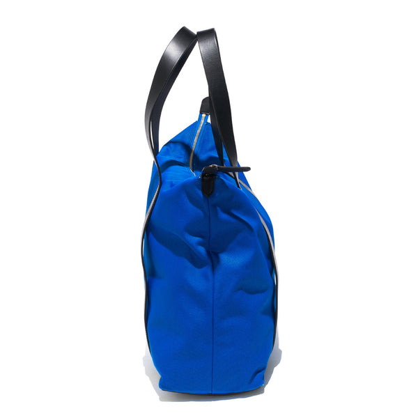 Mismo - Overnight Tote - Cobalt Blue Canvas & Black Leather - MAN of the WORLD Online Destination for Men's Lifestyle - 2