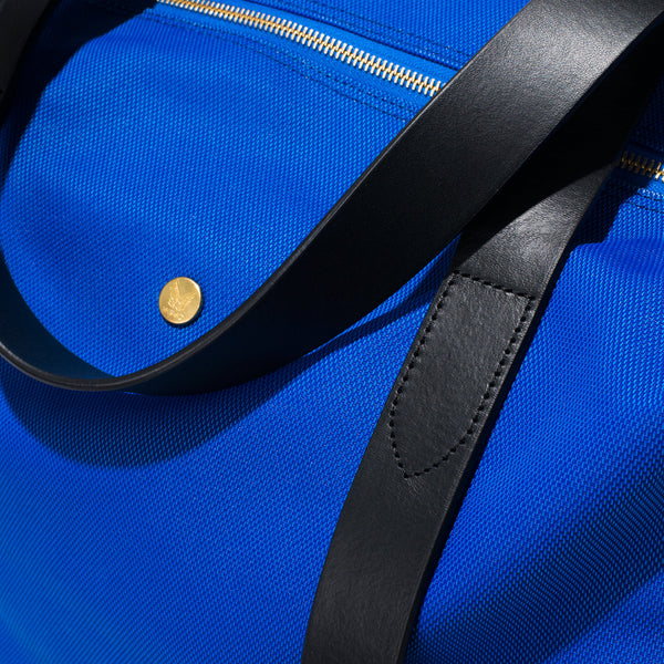 Mismo - Overnight Tote - Cobalt Blue Canvas & Black Leather - MAN of the WORLD Online Destination for Men's Lifestyle - 6