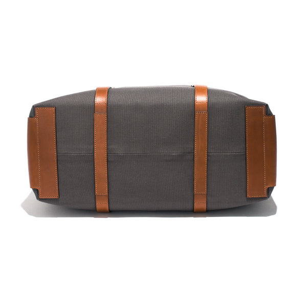 Mismo - Oversized Tote - Grey Canvas & Brown Leather - MAN of the WORLD Online Destination for Men's Lifestyle - 4