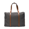Mismo - Oversized Tote - Grey Canvas & Brown Leather - MAN of the WORLD Online Destination for Men's Lifestyle - 1