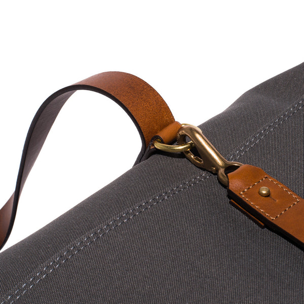 Mismo - Oversized Tote - Grey Canvas & Brown Leather - MAN of the WORLD Online Destination for Men's Lifestyle - 11