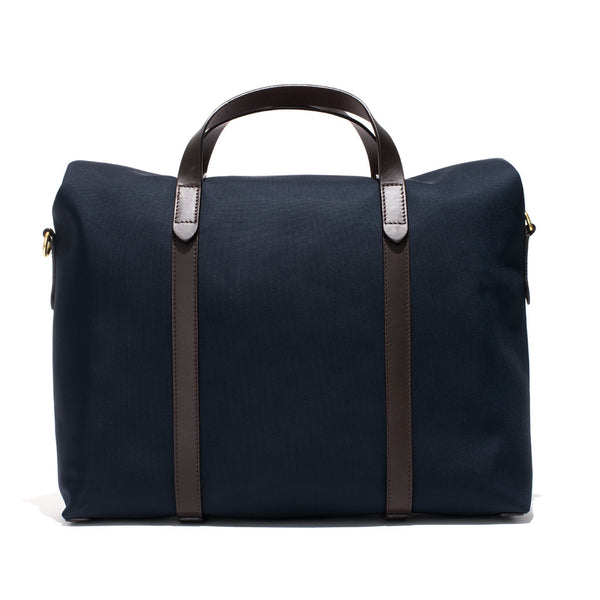 Mismo - Roll Top Tote - Navy Canvas & Dark Brown Leather - MAN of the WORLD Online Destination for Men's Lifestyle - 5