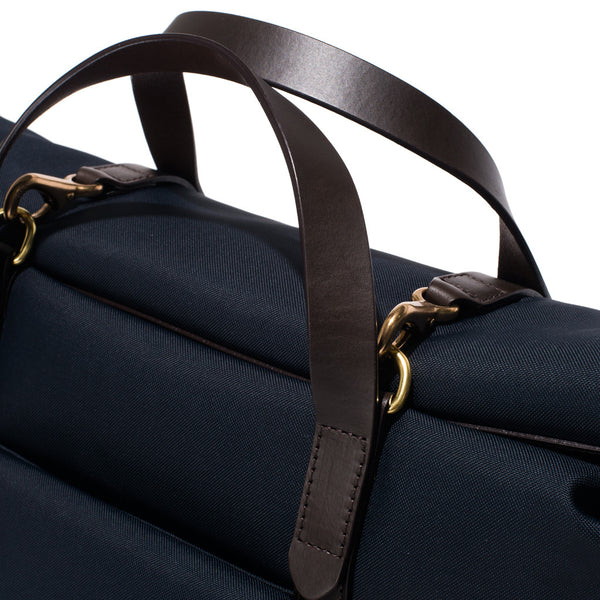 Mismo - Roll Top Tote - Navy Canvas & Dark Brown Leather - MAN of the WORLD Online Destination for Men's Lifestyle - 9
