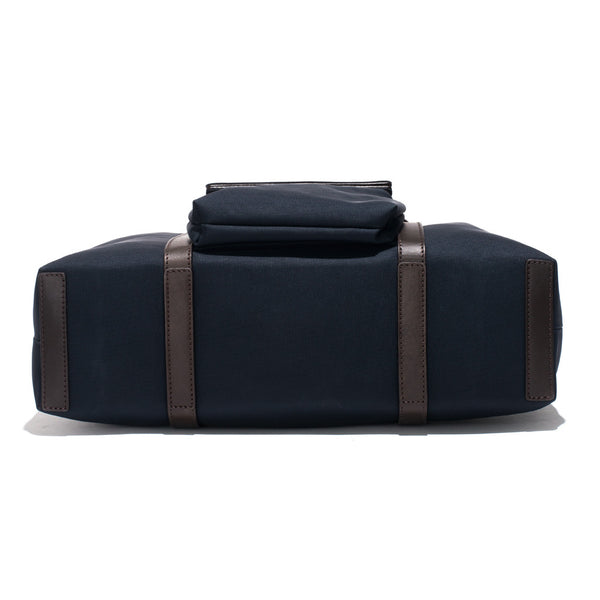 Mismo - Roll Top Tote - Navy Canvas & Dark Brown Leather - MAN of the WORLD Online Destination for Men's Lifestyle - 6