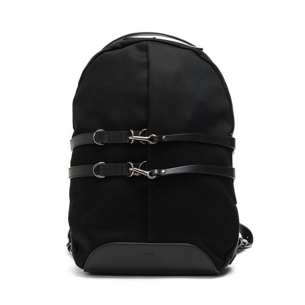 Sport Backpack - Black Ballistic Nylon & Black Leather