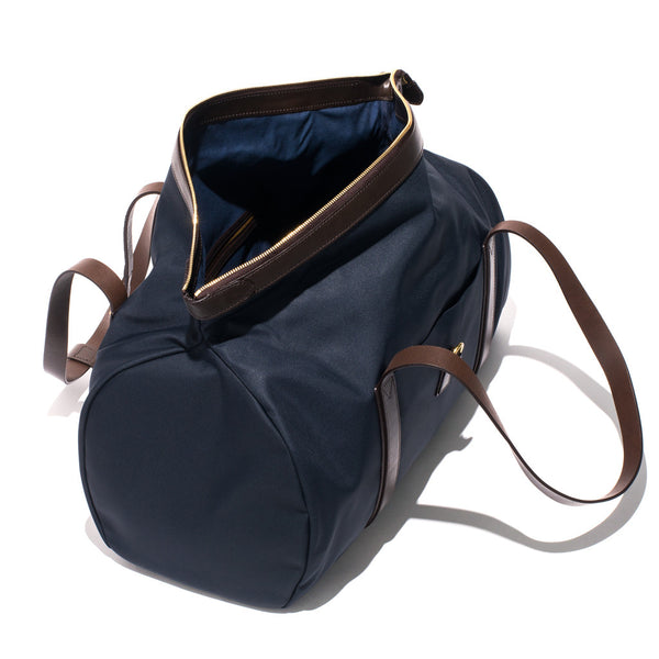 Mismo - Sport Carry-on - Navy Canvas & Dark Brown Leather - MAN of the WORLD Online Destination for Men's Lifestyle - 3