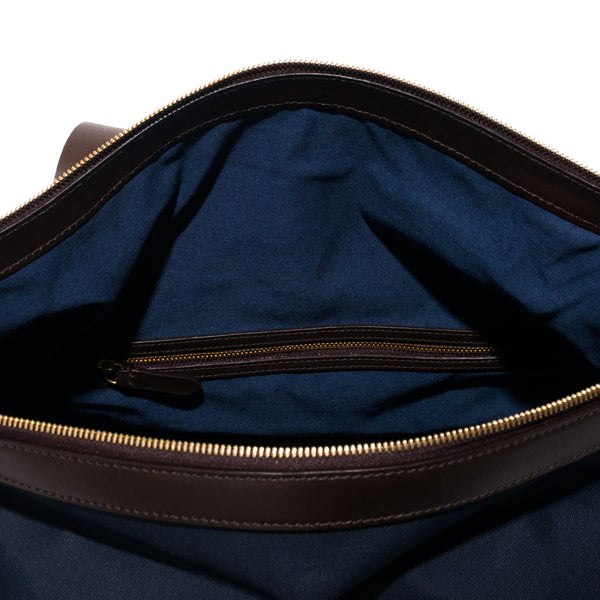 Mismo - Sport Carry-on - Navy Canvas & Dark Brown Leather - MAN of the WORLD Online Destination for Men's Lifestyle - 10