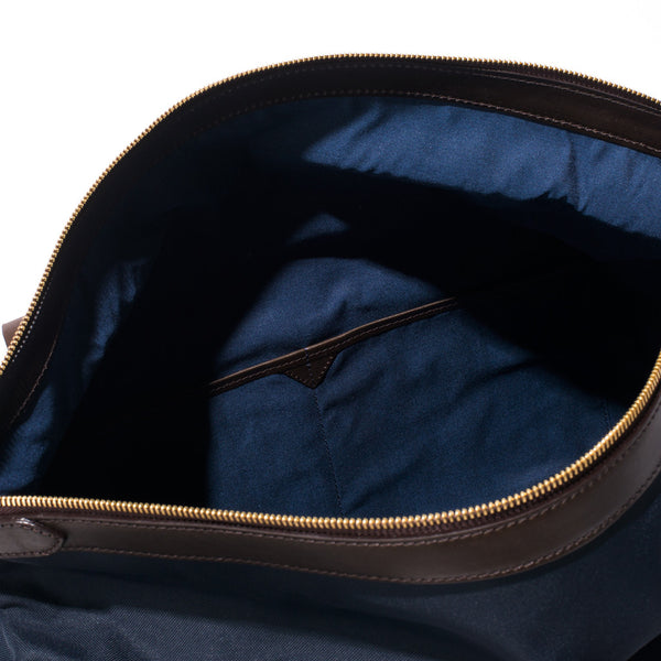 Mismo - Sport Carry-on - Navy Canvas & Dark Brown Leather - MAN of the WORLD Online Destination for Men's Lifestyle - 11