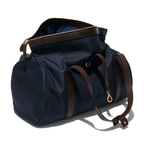 Mismo - Sport Carry-on - Navy Canvas & Dark Brown Leather - MAN of the WORLD Online Destination for Men's Lifestyle - 5
