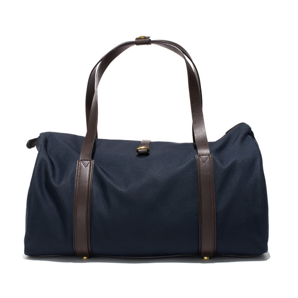 Mismo - Sport Carry-on - Navy Canvas & Dark Brown Leather - MAN of the WORLD Online Destination for Men's Lifestyle - 4
