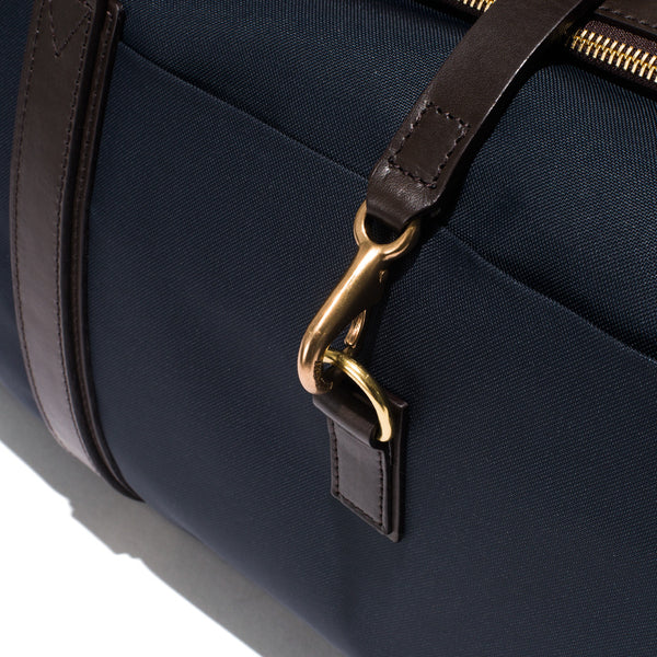 Mismo - Sport Carry-on - Navy Canvas & Dark Brown Leather - MAN of the WORLD Online Destination for Men's Lifestyle - 14