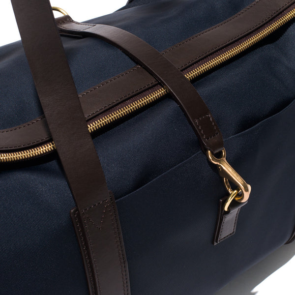 Mismo - Sport Carry-on - Navy Canvas & Dark Brown Leather - MAN of the WORLD Online Destination for Men's Lifestyle - 8