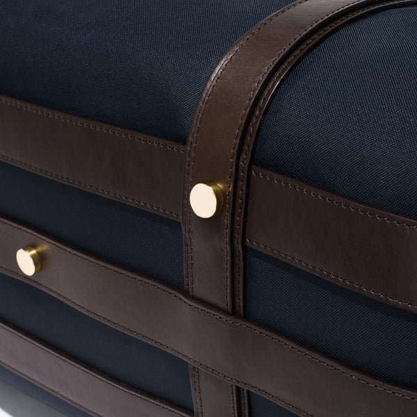 Mismo - Sport Carry-on - Navy Canvas & Dark Brown Leather - MAN of the WORLD Online Destination for Men's Lifestyle - 15