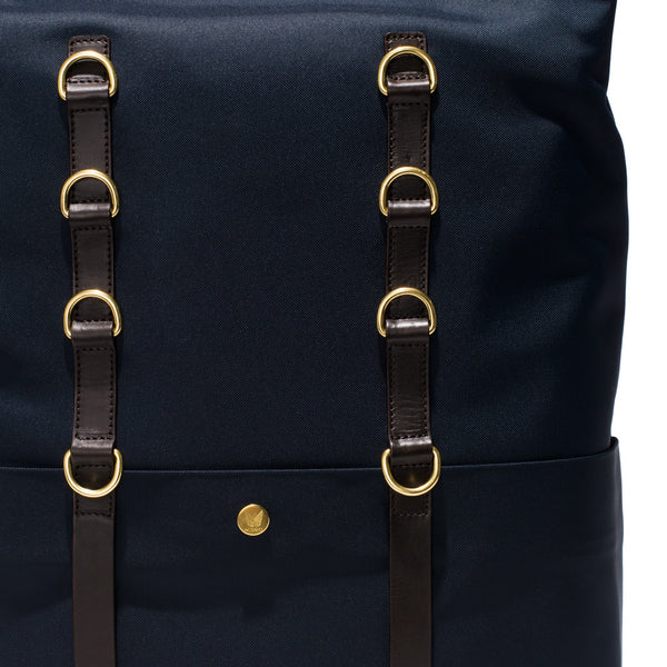 Mismo - Standard Backpack - Navy Canvas & Dark Brown Leather - MAN of the WORLD Online Destination for Men's Lifestyle - 10
