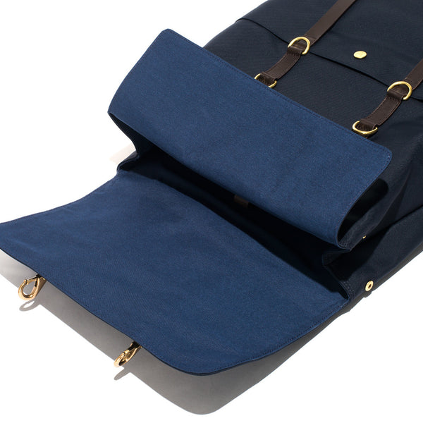 Mismo - Standard Backpack - Navy Canvas & Dark Brown Leather - MAN of the WORLD Online Destination for Men's Lifestyle - 7