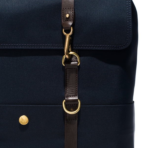 Mismo - Standard Backpack - Navy Canvas & Dark Brown Leather - MAN of the WORLD Online Destination for Men's Lifestyle - 14