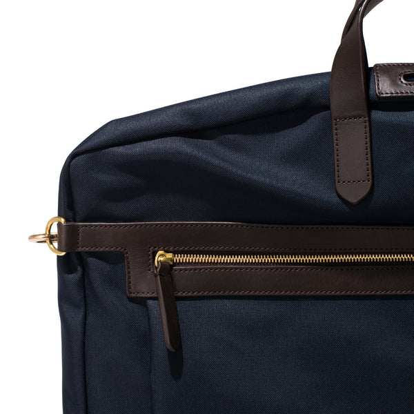 Mismo - Suit Carrier - Navy Canvas & Dark Brown Leather - MAN of the WORLD Online Destination for Men's Lifestyle - 7