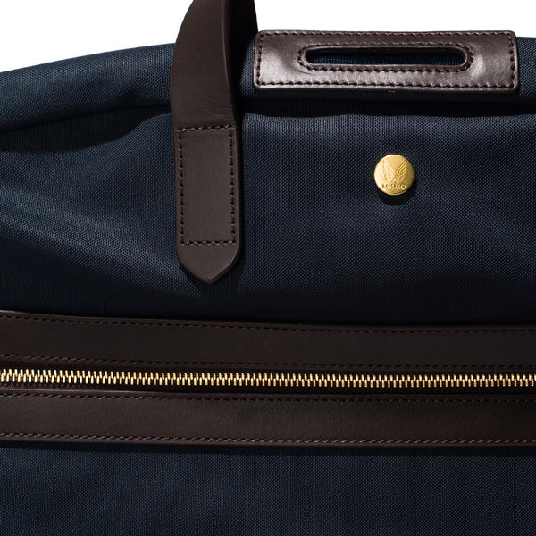 Mismo - Suit Carrier - Navy Canvas & Dark Brown Leather - MAN of the WORLD Online Destination for Men's Lifestyle - 8