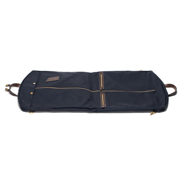 Mismo - Suit Carrier - Navy Canvas & Dark Brown Leather - MAN of the WORLD Online Destination for Men's Lifestyle - 4