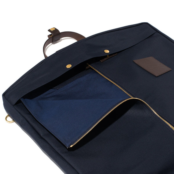 Mismo - Suit Carrier - Navy Canvas & Dark Brown Leather - MAN of the WORLD Online Destination for Men's Lifestyle - 5