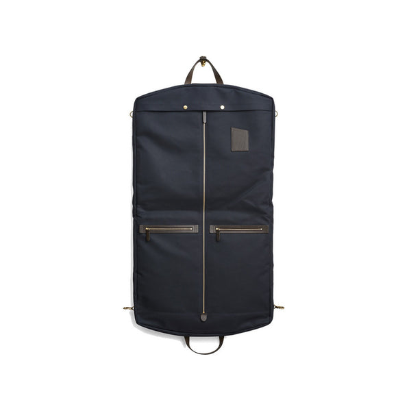 Mismo - Suit Carrier - Navy Canvas & Dark Brown Leather - MAN of the WORLD Online Destination for Men's Lifestyle - 2