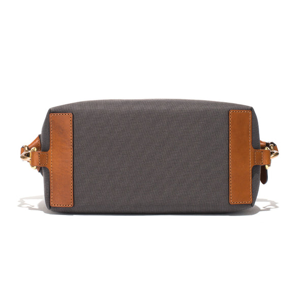 Mismo - Travel Washbag - Grey Canvas & Brown Leather - MAN of the WORLD Online Destination for Men's Lifestyle - 5