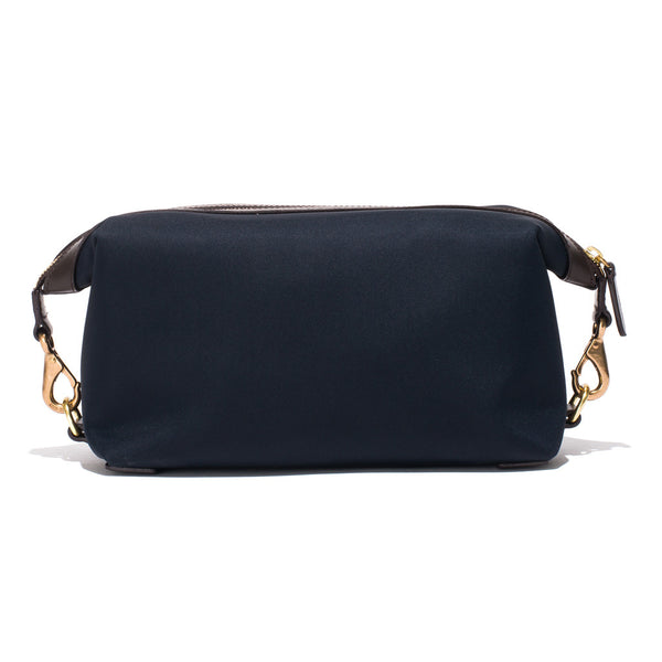 Mismo - Travel Washbag - Navy Leather & Dark Brown Leather - MAN of the WORLD Online Destination for Men's Lifestyle - 4