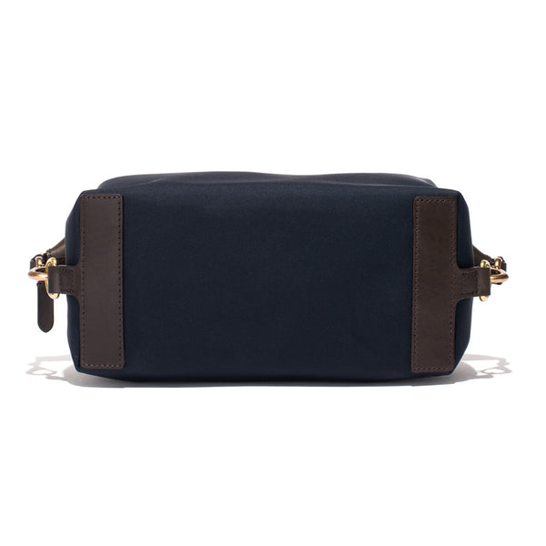 Mismo - Travel Washbag - Navy Leather & Dark Brown Leather - MAN of the WORLD Online Destination for Men's Lifestyle - 3