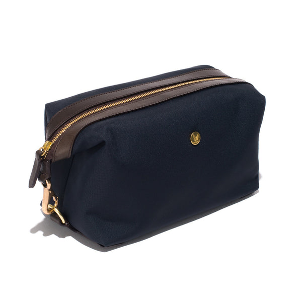 Mismo - Travel Washbag - Navy Leather & Dark Brown Leather - MAN of the WORLD Online Destination for Men's Lifestyle - 2