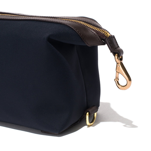 Mismo - Travel Washbag - Navy Leather & Dark Brown Leather - MAN of the WORLD Online Destination for Men's Lifestyle - 8