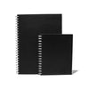 Black Leather Ringnote Spiral Notebook