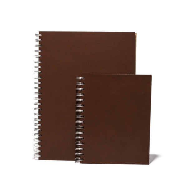 Brown Leather Ringnote Spiral Notebook