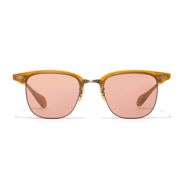 Executive I Sunglasses - Matte Amber Tortoise & Antique Gold