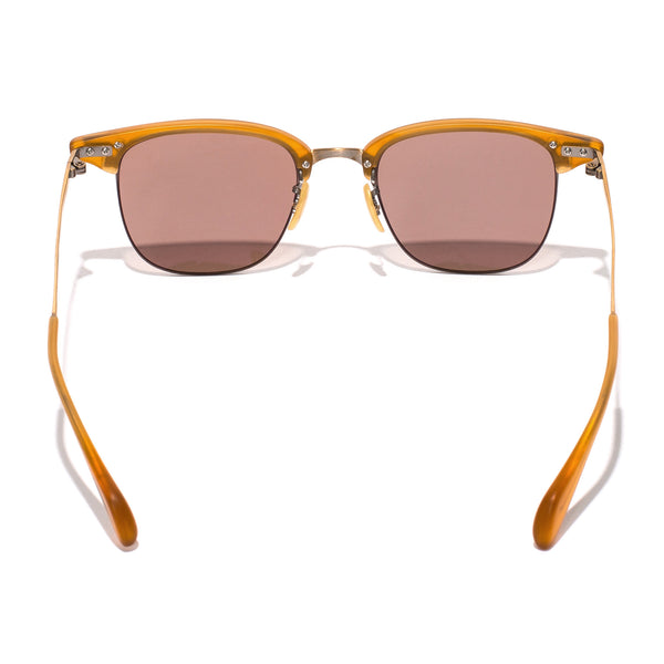 Oliver Peoples - Executive I Sunglasses - Matte Amber Tortoise & Antique Gold - MAN of the WORLD Online Destination for Men's Lifestyle - 4