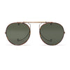 Oliver Peoples - O'Malley Clip-On Shades - Antique Gold & Tortoise - MAN of the WORLD Online Destination for Men's Lifestyle - 1
