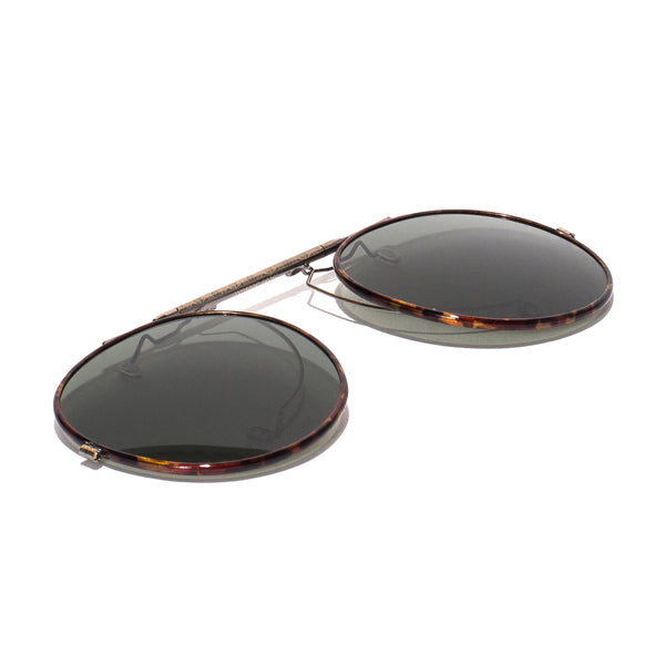 Oliver Peoples - O'Malley Clip-On Shades - Antique Gold & Tortoise - MAN of the WORLD Online Destination for Men's Lifestyle - 2