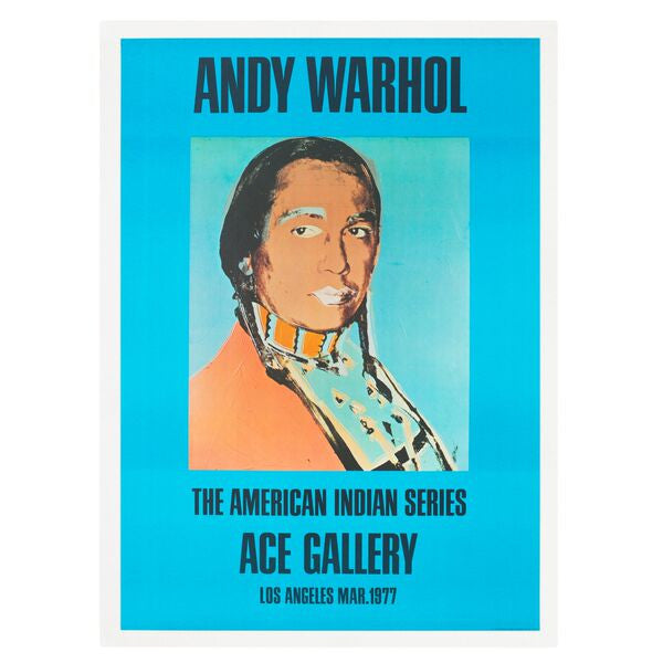 Andy Warhol: The American Indian Series Los Angeles 1976 Poster