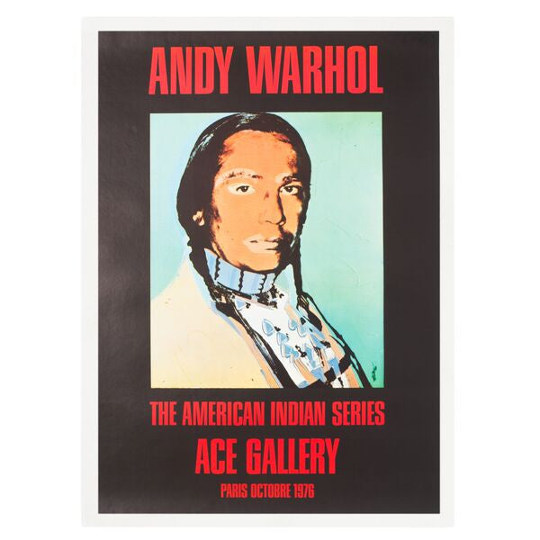 Andy Warhol: The American Indian Series Paris 1976 Poster