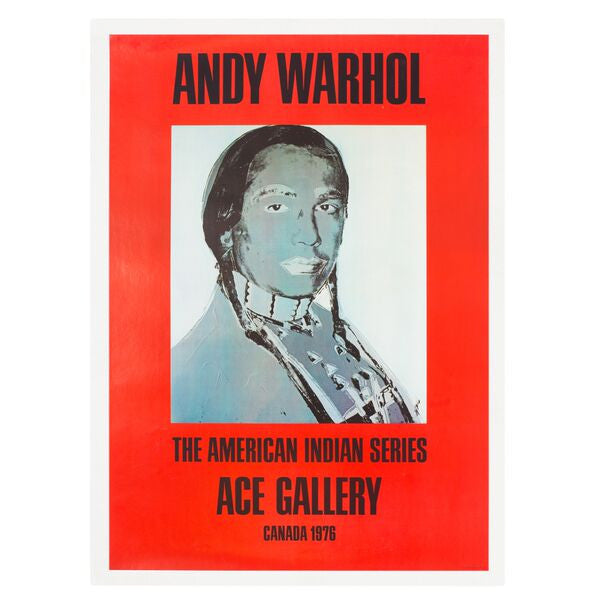 Andy Warhol: The American Indian Series Canada 1976 Poster