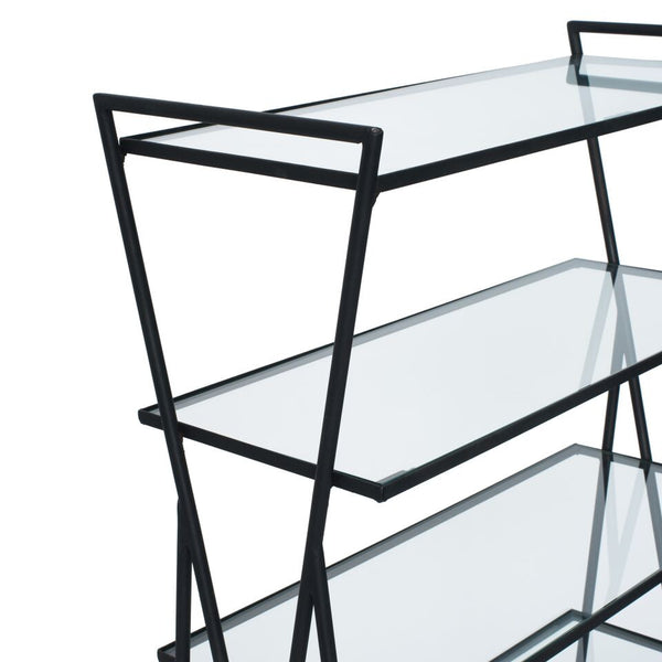 VINTAGE - Iron & Glass Bookshelf - MAN of the WORLD Online Destination for Men's Lifestyle - 5