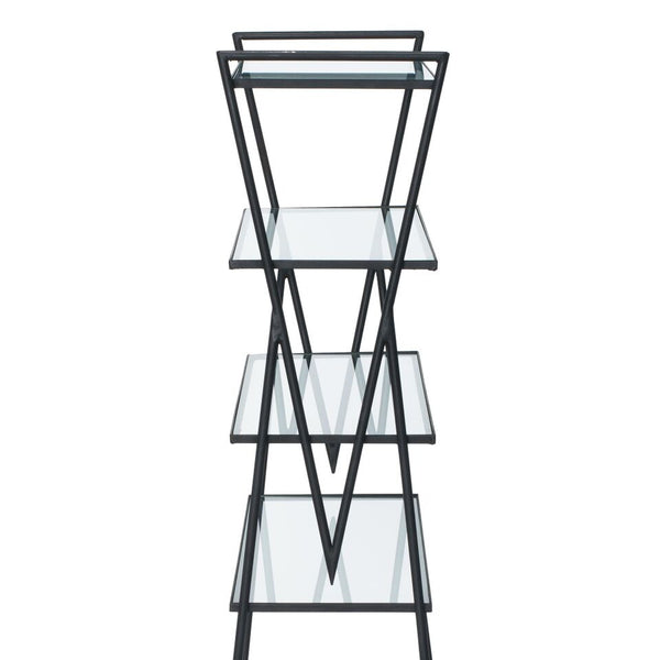 VINTAGE - Iron & Glass Bookshelf - MAN of the WORLD Online Destination for Men's Lifestyle - 7