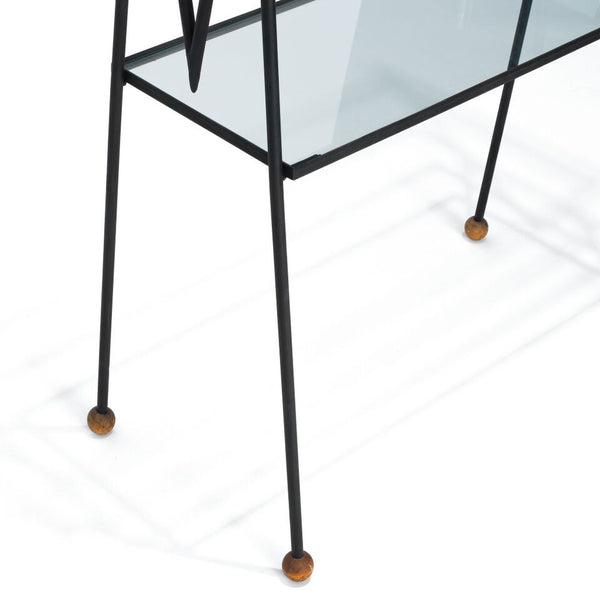 VINTAGE - Iron & Glass Bookshelf - MAN of the WORLD Online Destination for Men's Lifestyle - 2