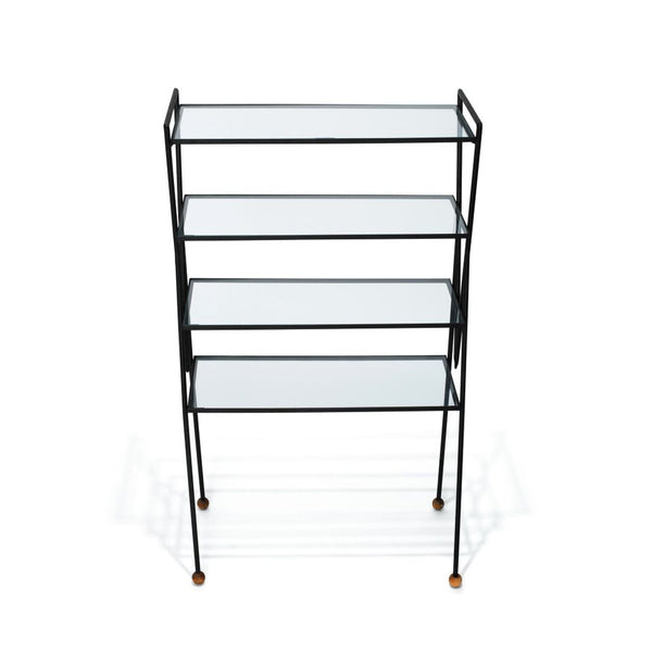 VINTAGE - Iron & Glass Bookshelf - MAN of the WORLD Online Destination for Men's Lifestyle - 10